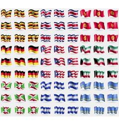 Uganda Costa Rica Kyrgyzstan Germany Puerto Rico vector