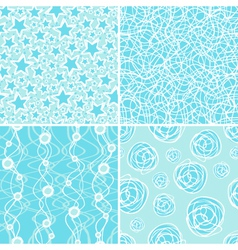 winter pattern vector image