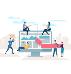 Work meeting improve business process optimisation vector