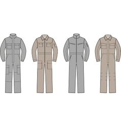 Work overalls set vector