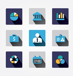 Set design business concept icons and apps Icons vector image