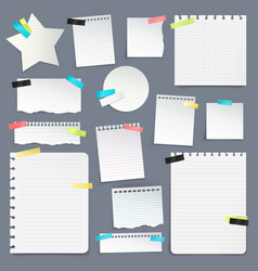 set of paper scraps and clean sheets vector image vector image