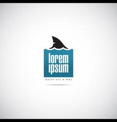 shark of business logo template vector image vector image