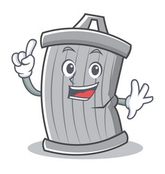 finger trash character cartoon style vector image vector image