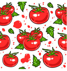 juicy tomatoes seamless pattern vector image vector image