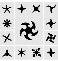 Shurikens vector image vector image