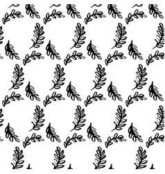 Spring leaf brush seamless pattern vector