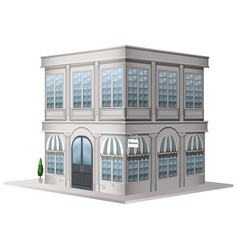 3d design for building in vintage style vector