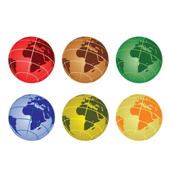 Africa on a globe vector image vector image
