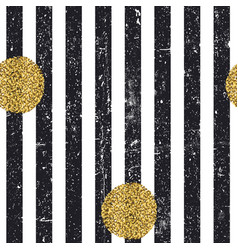 black textured lines and chaotic golden dots vector image