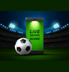 mobile football online vector image vector image