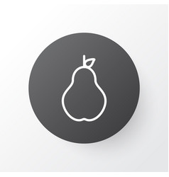 pear icon symbol premium quality isolated duchess vector image