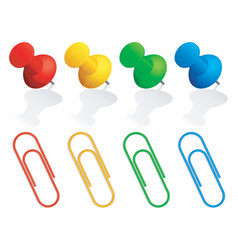 pins and paper clips vector image vector image