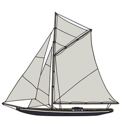 Vintage yacht vector image