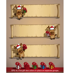 Christmas Elks Papyrus Gifts vector image