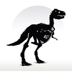 Dinosaurs trex skeleton vector