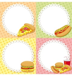 fast food backgrounds vector image