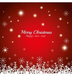 merry christmas happy new year shining stars vector image