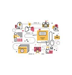 online education training vector image