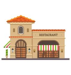 Restaurant building vector image