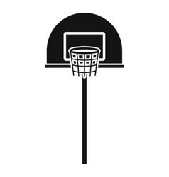 Street basketball hoop icon simple style vector image
