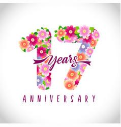 17 flowers logo idea vector
