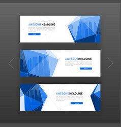 3d low poly solid abstract corporate banner vector