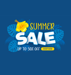 advertising banner about seasonal summer sale vector image