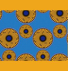 African wax print fabric ethnic handmade ornament vector