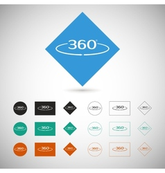 Angle 360 degrees sign vector