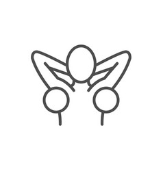 Armpit hair removal line outline icon vector