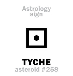 Astrology asteroid tyche vector