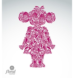 Beautiful woman standing art of a cute girl vector image vector image