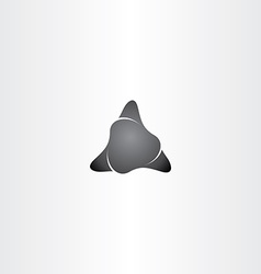 black stone triangle shape icon vector image