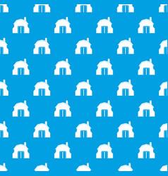 blacksmith workshop building pattern seamless blue vector image
