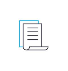 Brief report thin line stroke icon brief vector