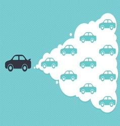 car cloud leadership concept vector image