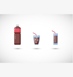 cola flat icons set vector image