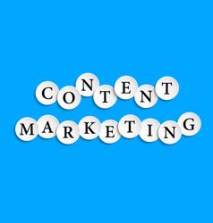 Content marketing inscription composed paper vector