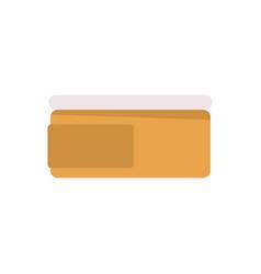 Cream tub icon vector