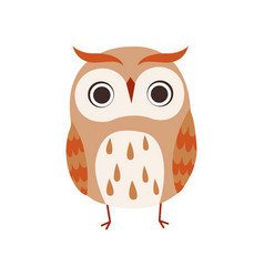 Cute owlet adorable owl bird vector