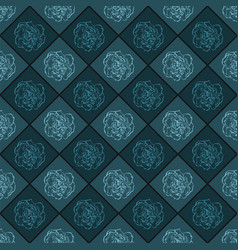 Dark blue seamless chess styled vintage texture vector