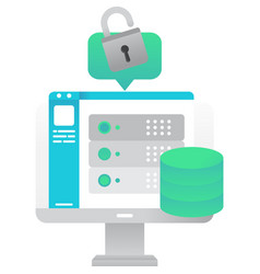 database icon server for data storage vector image