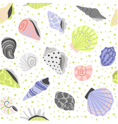 decoration seashells seamless pattern vector image