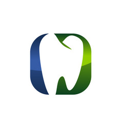 dental care logo modern vector image