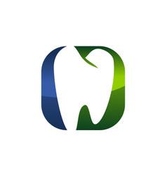 Dental care logo modern vector