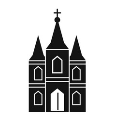 Europe church icon simple style vector