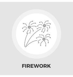 Firework flat icon vector image