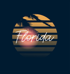 florida print typography design pattern on shirt vector image