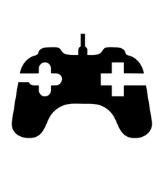 game controller icon image vector image